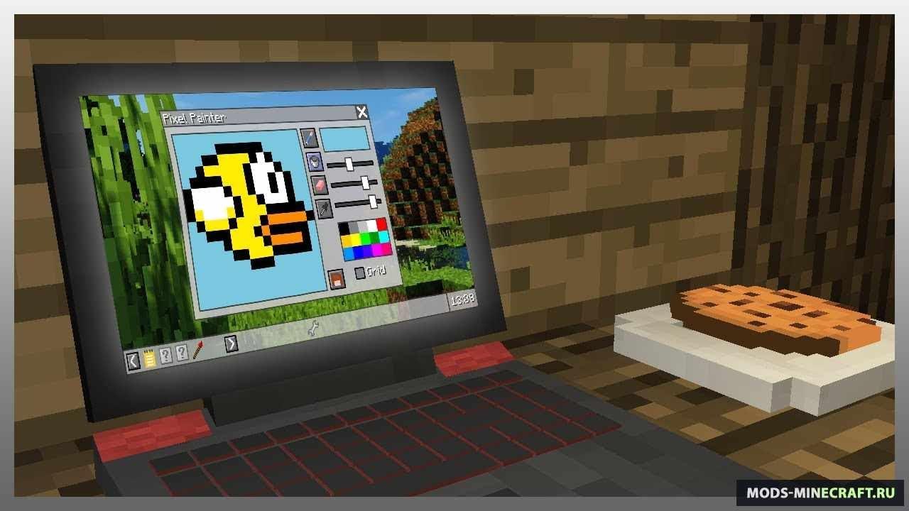 мод для майнкрафт с настоящим компьютером #6