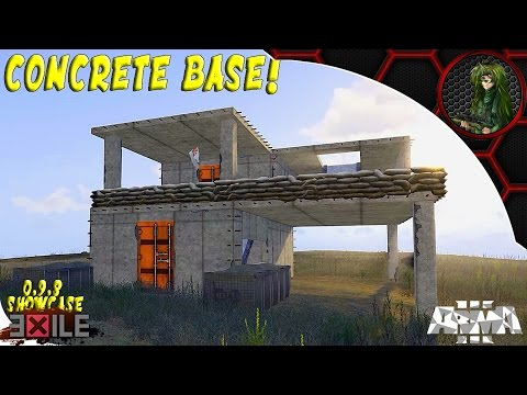 Arma 3: Exile Mod —0.9.8 Build w/ Eichi—CONCRETE BASE!