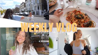 WEEKLY VLOG LIVING IN LONDON: Seafood Pasta, Skincare Haul, Content Days, Celebrating & LIVING LIFE✨