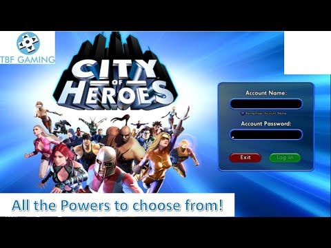 Return Of City Of Heroes!  Quick Look At All The Powers, The Archetypes, Play Styles!