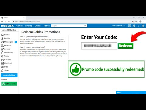 how to claim roblox codes