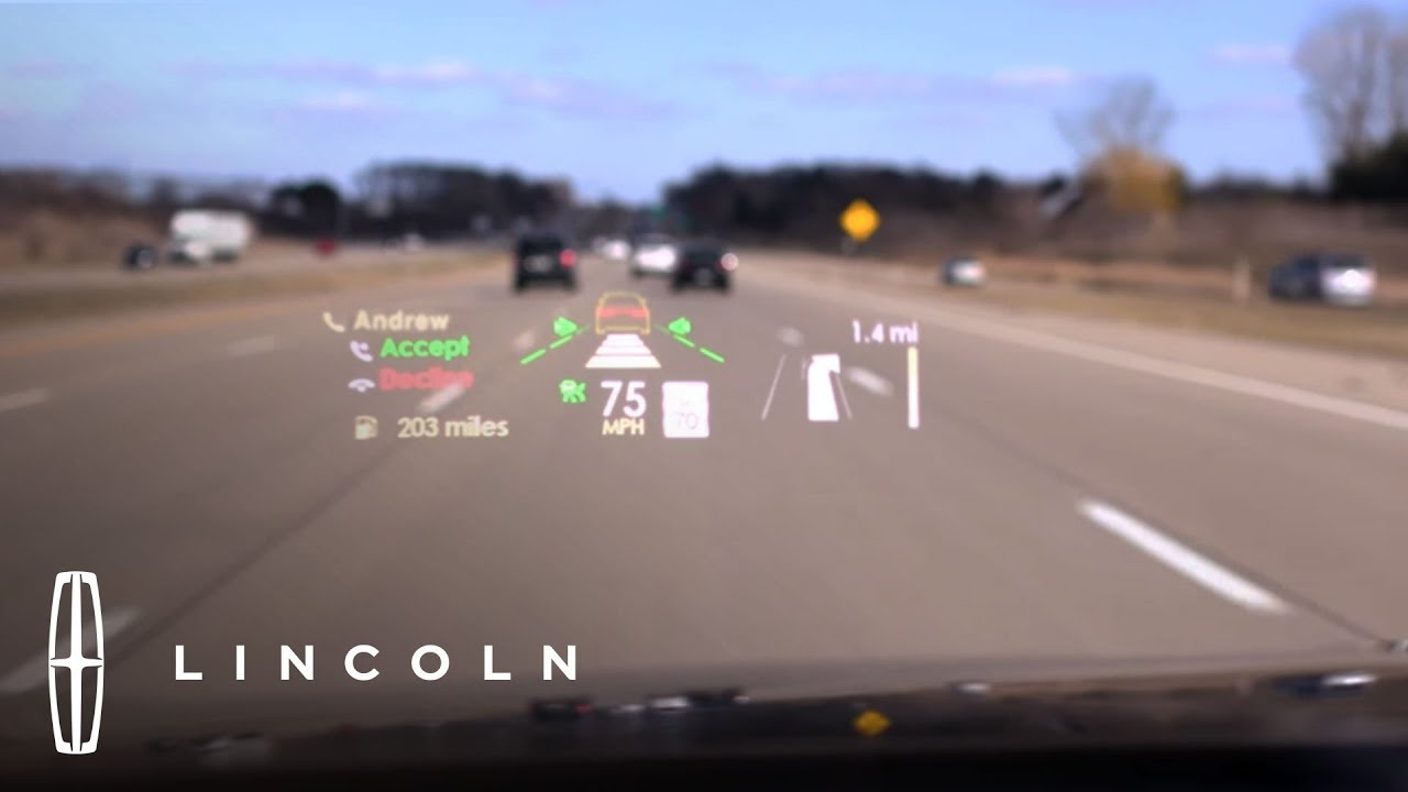 All New Head Up Display On The Lincoln Continental Lincoln Youtube