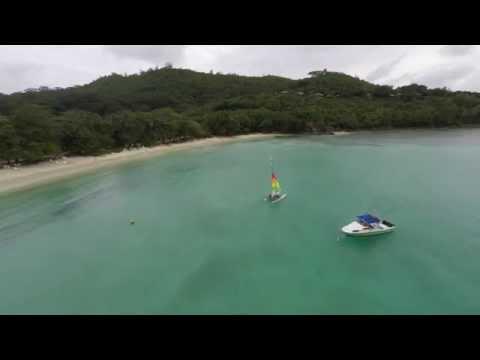 Hotel Constance Ephelia Resort. Seychelles. Aerial. 4K. DJI Phantom.