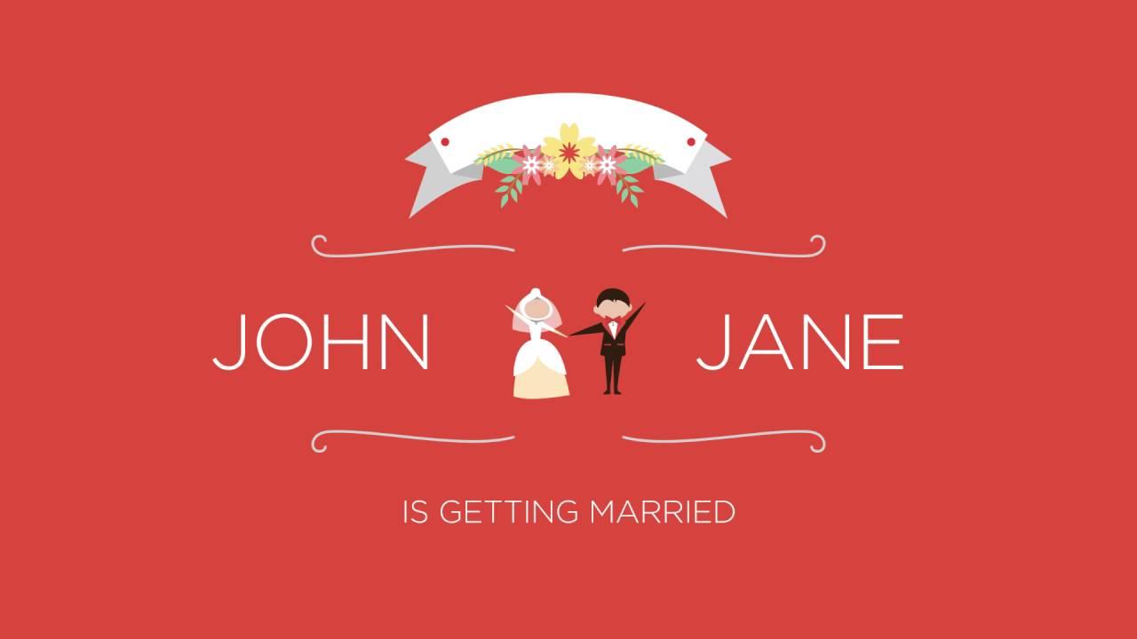 Animated Invites - Wedding Sample 1 - YouTube