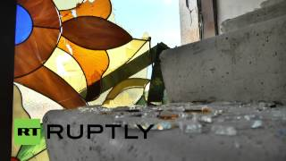 Ukraine: Lugansk church pounded by artillery fire