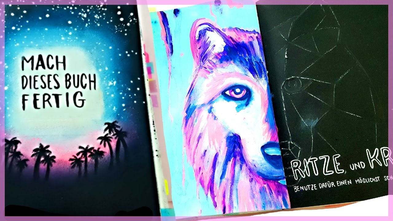 mach dieses buch fertig wreck this journal wolf malen foxy draws youtube. Black Bedroom Furniture Sets. Home Design Ideas