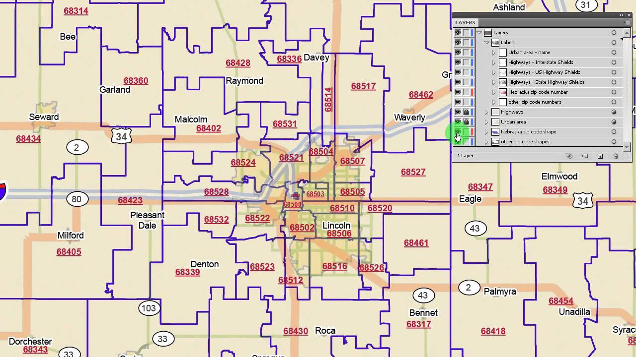 Omaha Nebraska Zip Code Map Nebraska zip code map   YouTube