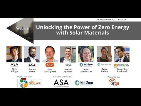 Webinar: Unlocking the Power of Zero Energy with Solar Materials