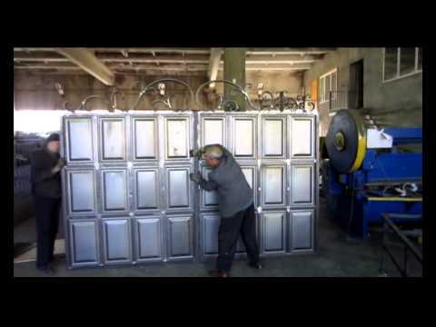филенка металлическая  Филенчатые ворота изготовление