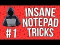 Best Notepad Tricks & Hacks + Codes [Part 1] [#07]