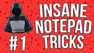 Best Notepad Tricks & Hacks + Codes [Part 1] [#07] - Technology ...