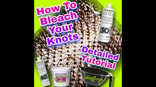 HOW TO PROPERLY BLEACH KNOTS ON ANY LACE | Hack | Beginner Friendly | EXTREMELY EASY | AshleyBangz