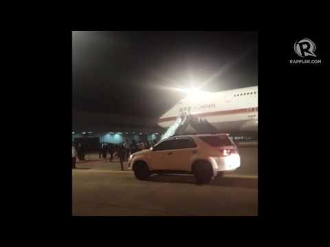 WATCH: Shinzo Abe arrives in Davao City