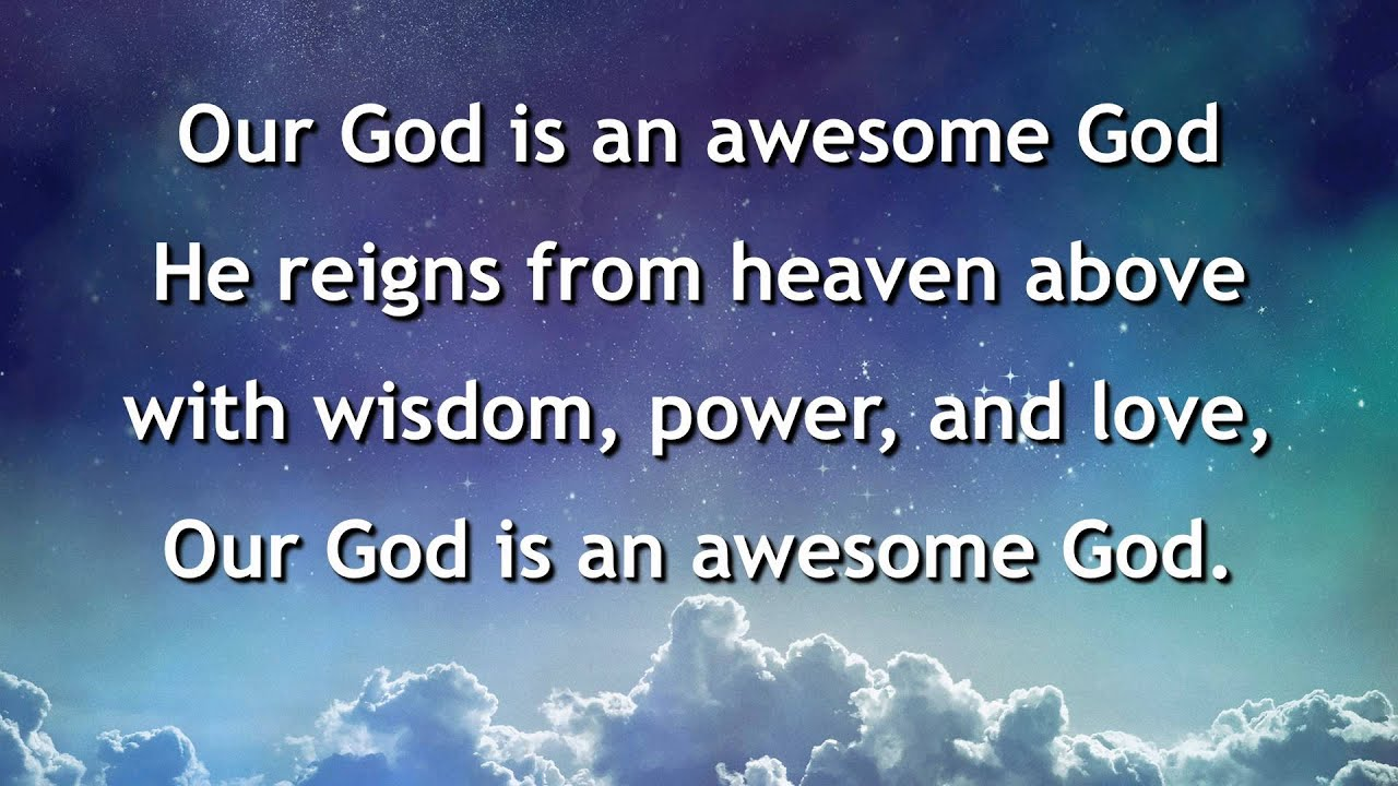 our god is an awesome god instrumental with lyrics chords chordify. Black Bedroom Furniture Sets. Home Design Ideas