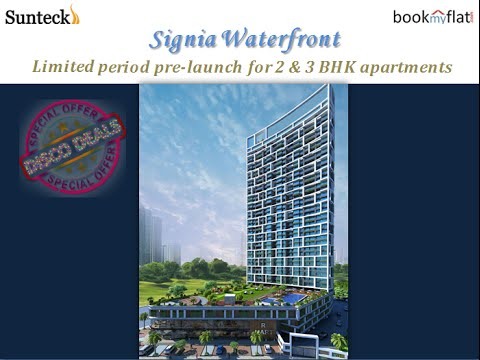 Walkthrough of Sunteck Realty Signia Waterfront Airoli, Mumbai by bookmyflat.com