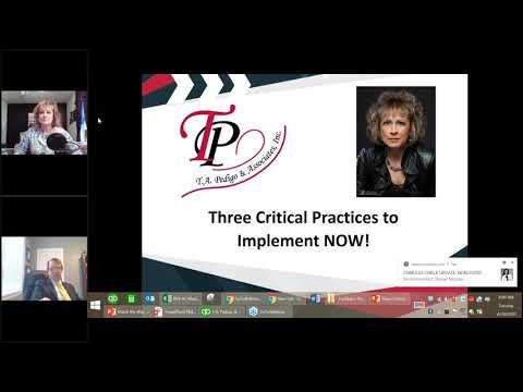 Three Critical Things to Implement NOW - Teresa A. Pedigo, Owner of TA Pedigo & Associates, Inc
