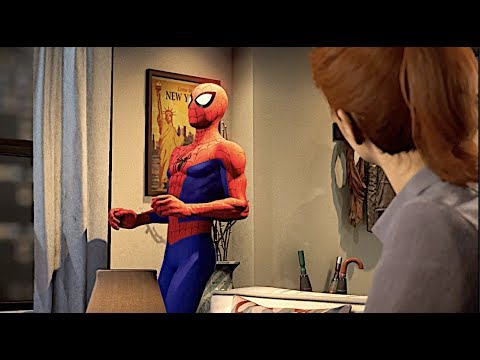 Spider Man Gets Awkward With Mary Jane In Spider Verse Suit