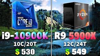 Ryzen 9 5900x vs Intel Core i9 10900k | Zen 3 Benchmark Test
