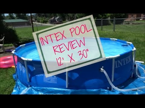 Intex Pool 12x30 Review Youtube