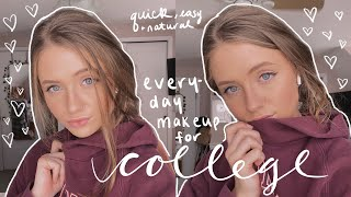 everyday college makeup routine 2020 (easy & natural)