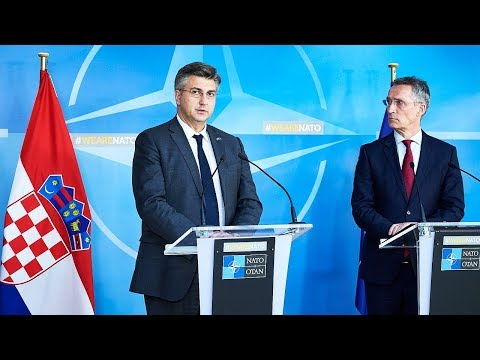 NATO Secretary General with the Prime Minister of Croatia, 22 FEB 2018