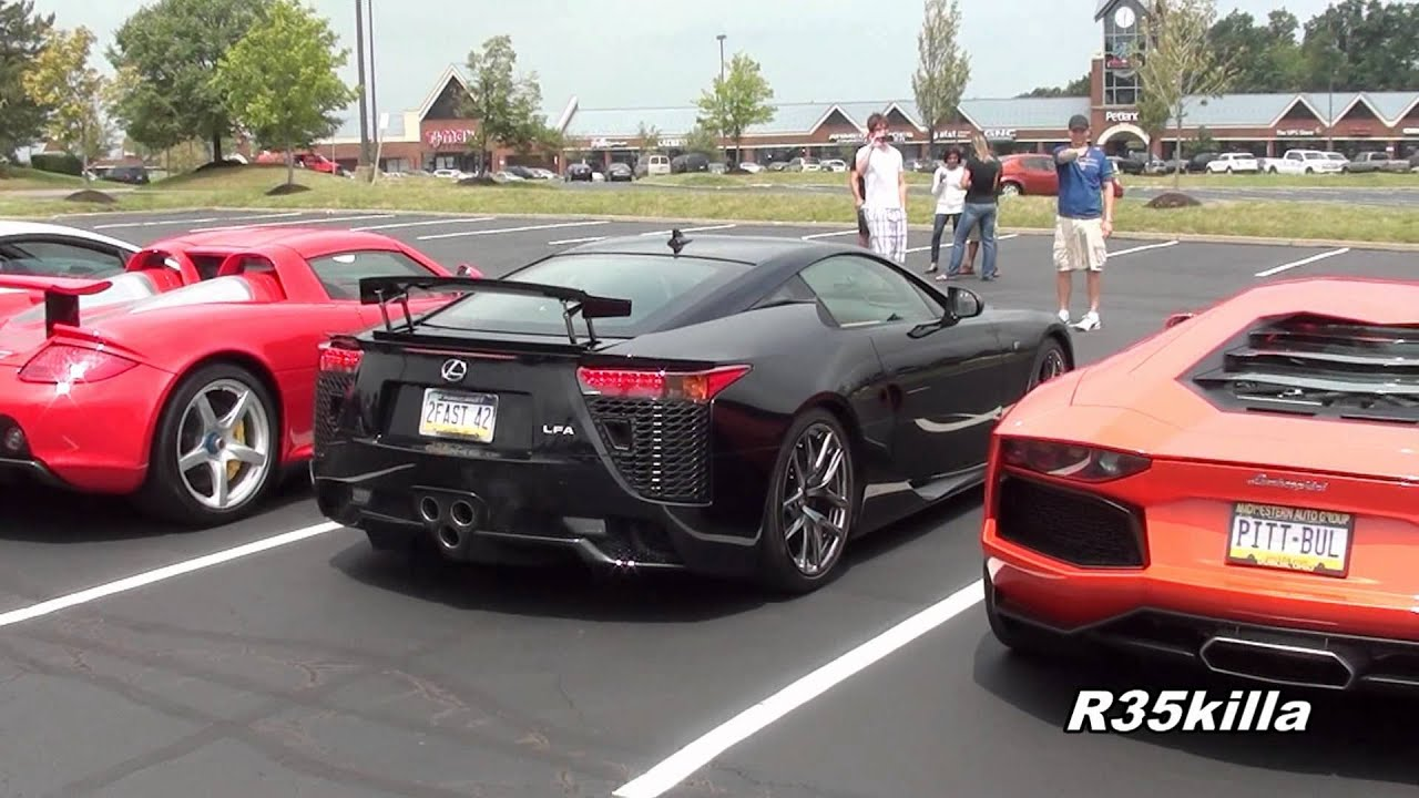 Insane Revv Battle Aventador vs LFA vs R8 vs CGT vs LP560
