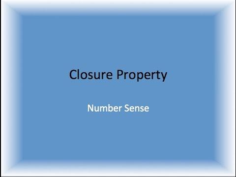 Closure Property