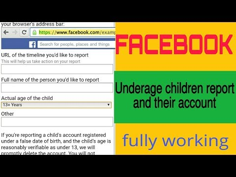 How to report Facebook underage children account full and working tricks