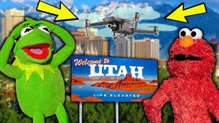 Kermit the Frog and Elmo's Surprise Road Trip to Utah!