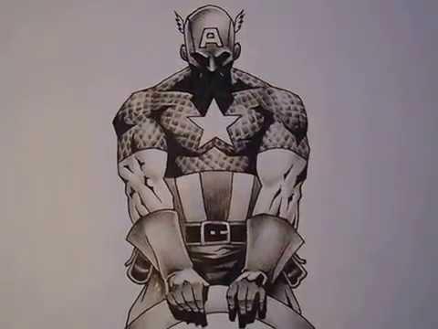 Captain America tattoo design