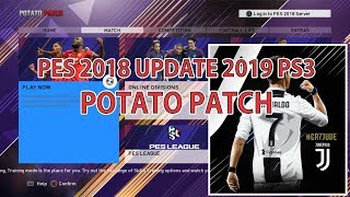 PES 2018 Update 2019 POTATO PATCH PS3