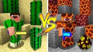 - MINECRAFT NOOB VS PRO CACTUS or MAGMA ARMOR BATTLE in Minecraft