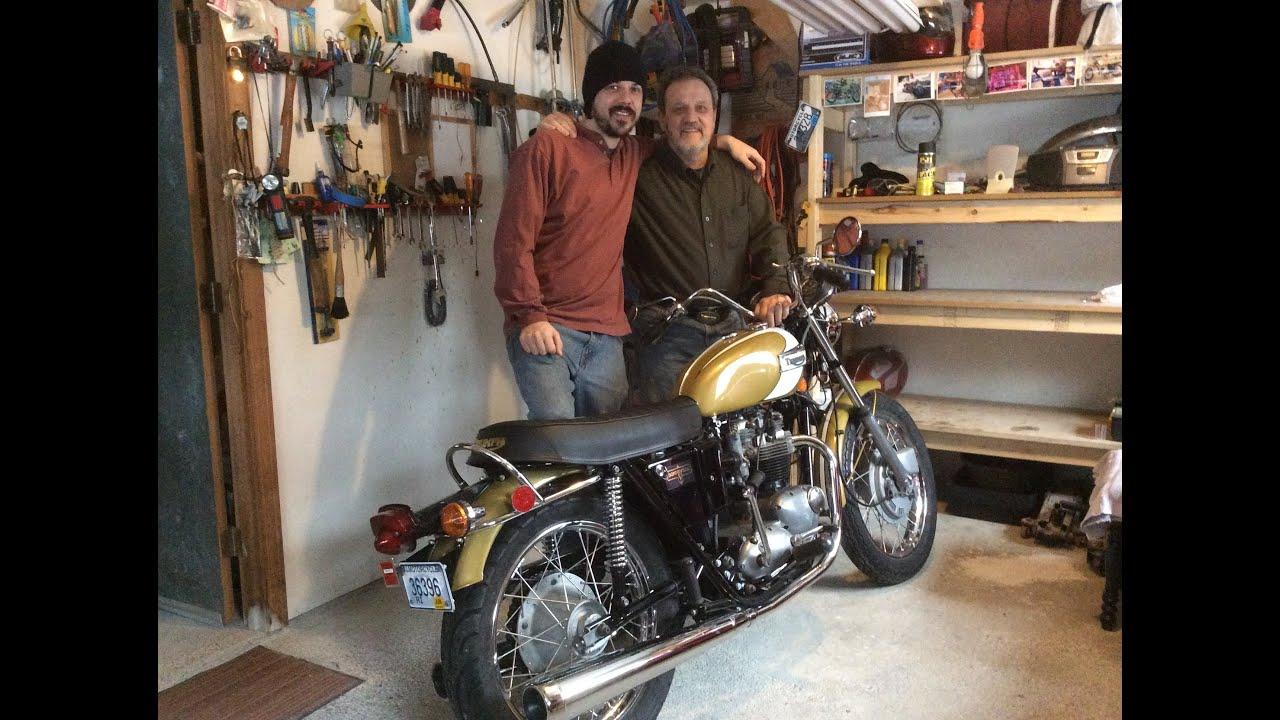 Bonneville And Son >> 1972 650 Triumph Bonneville Restored - YouTube