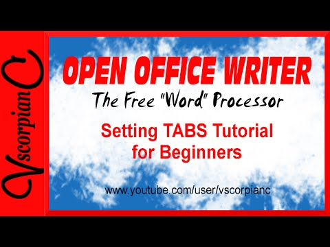 OpenOffice Writer Tutorial - How To Set, Clear & Add Custom Tab Stops By VscorpianC