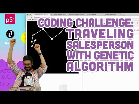 Coding Challenge #35.4: Traveling Salesperson with Genetic A