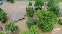 6-4-19 North Little Rock, Arkansas - Willow Lake Road Flooded Homes - Home Built Levees