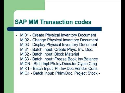 SAP MM Module Introduction tutorial for beginners