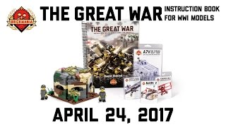 Great War Instruction Book & WWI German Machine Gun Pillbox - Custom Military Lego