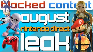 AUGUST Nintendo Direct LEAK: Smash REVEAL, BOTW2 & Super Mario 3D All-Stars! - LEAK SPEAK!
