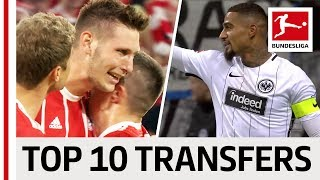 Top 10 Best Transfers 2017/18 - James, Kevin-Prince Boateng & Co.