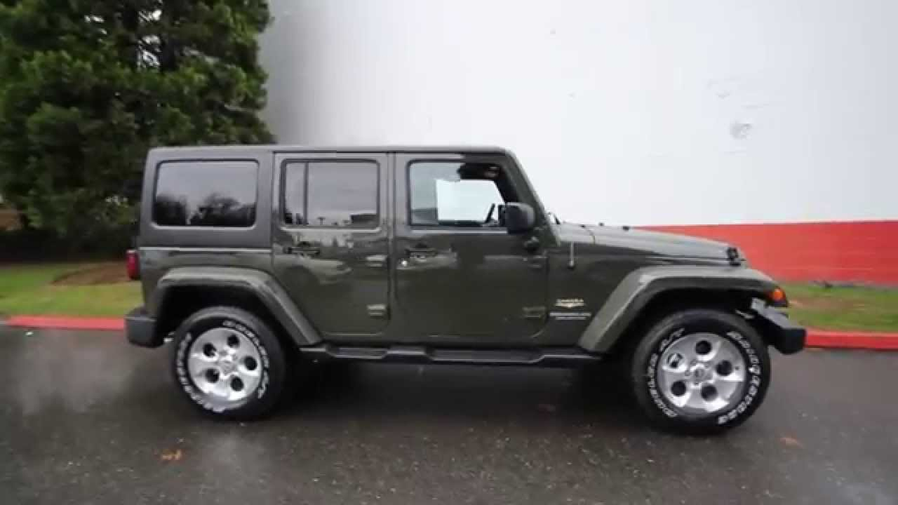 2015 jeep wrangler unlimited sahara tank fl561005 redmond seattle youtube. Black Bedroom Furniture Sets. Home Design Ideas