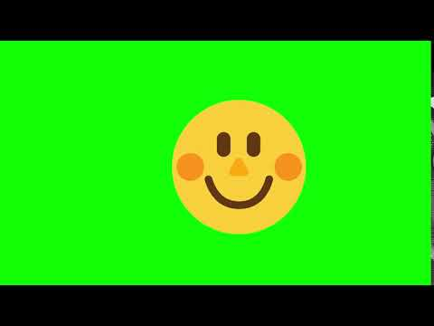 Happy face green screen video