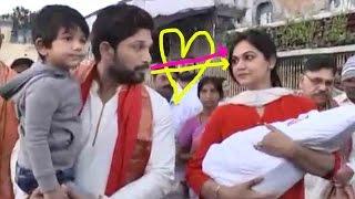 Video VIDEO : Allu Arjun Family In Tirumala - Wife Sneha Reddy - DJ Duvvada Jagannadham Trailer download MP3, 3GP, MP4, WEBM, AVI, FLV Juni 2018