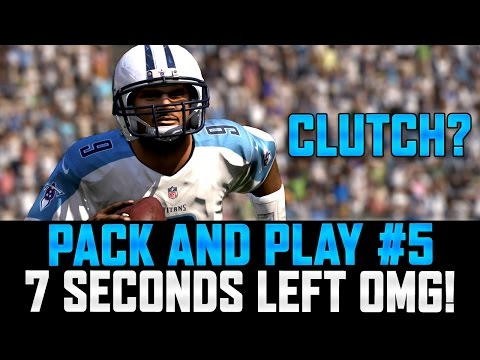 PACK AND PLAY #5 - STEVE MCNAIR WITH 7 SECONDS LEFT! CAN HE WIN THE GAME?