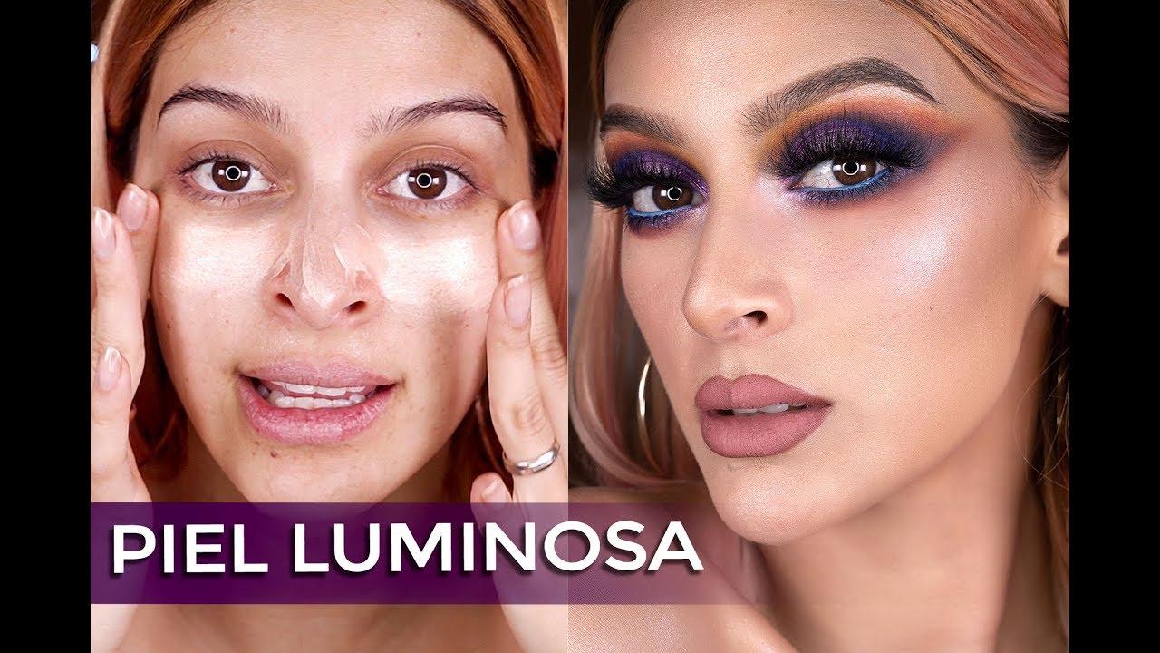Como Aplicar Base De Maquillaje Con Iluminador Liquido Youtube