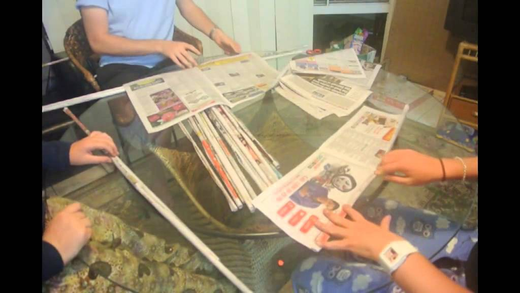 How to make a newspaper tower youtube for How to make something with newspaper