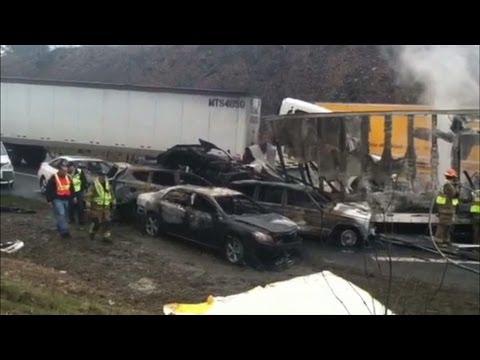 Massive 75 Car Pileup Kills 3