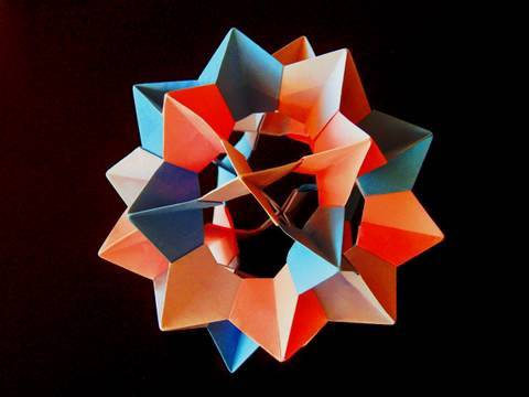 Papercraft How to make an Origami Electra Icosidodecahedron