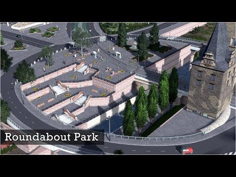Roundabout Park above an Old Canal - Cities Skylines: Custom Builds
