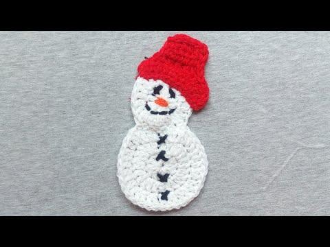Especially For You | Crochet Snowman Applique | Christmas and Winter Season